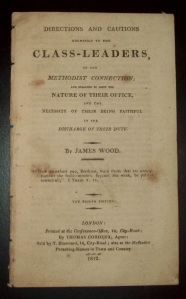 Class-Leaders Training Pamphlet from 1812