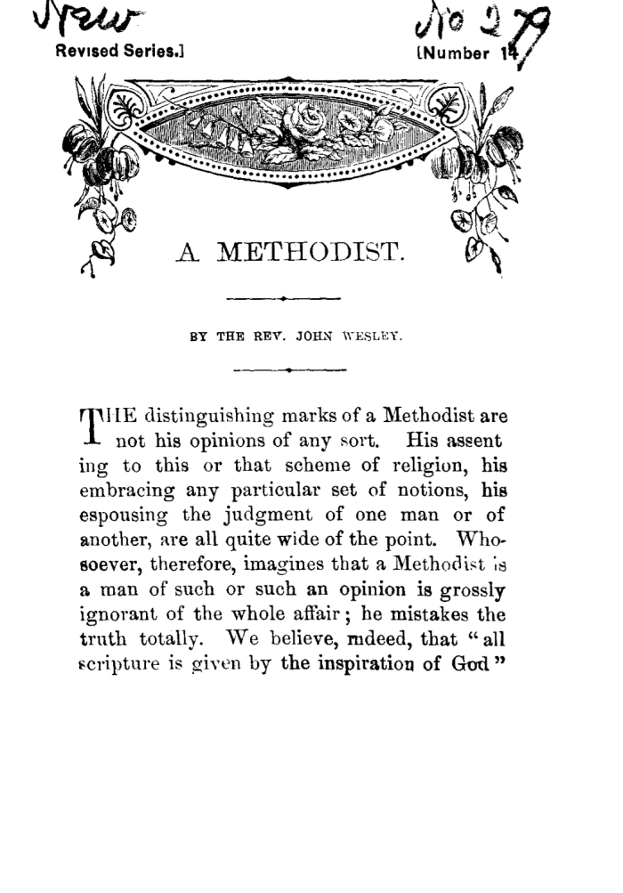 What Is a Methodist?