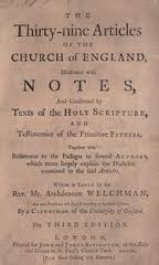 Anglican Thirty-Nine Articles of Religion