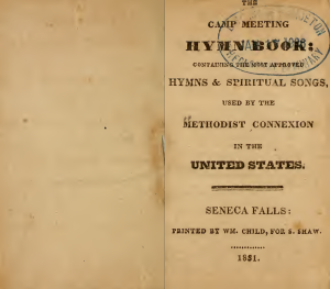 Camp meeting hymn book